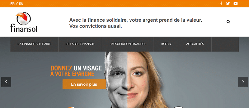 Capture du site Finansol